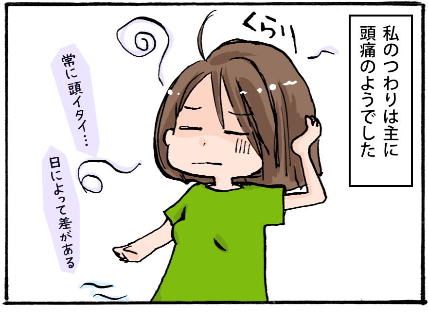 【妊娠4コマ-その6】頭痛と私のつわり。